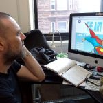 Frank Quitely interview in his studio after Rutherglen Comic Con, Scotland
