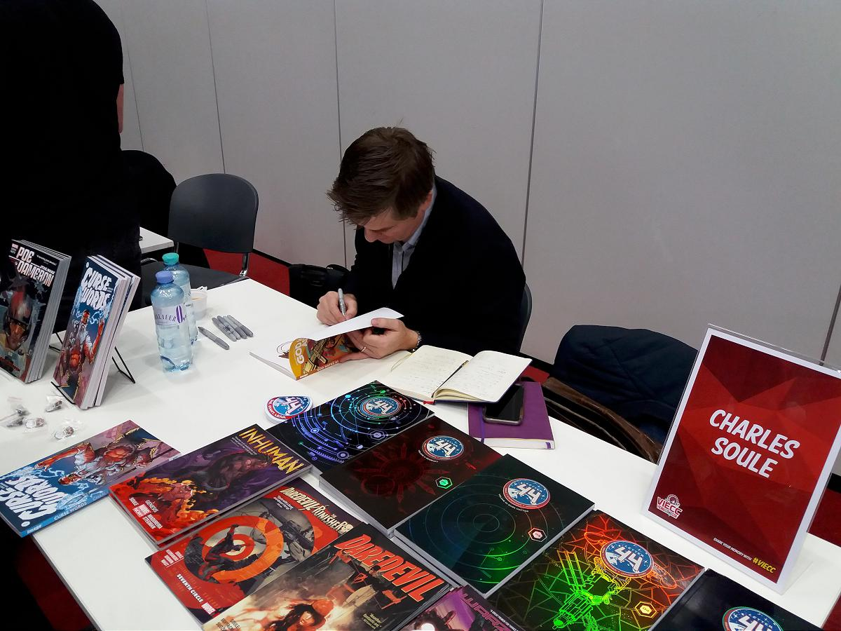 Charles Soule signing